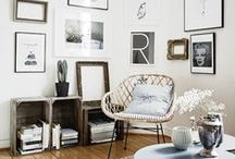 ideas for the living room / Rustic Modern Relaxing Full of life (aka plants!) Inviting