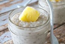 Skinny Desserts / low sugar versions baked fruits with whipped toppings tapiocas and puddings