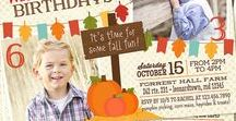 Fall Birthdays / Fall, pumpkin patch or Halloween themed birthdays