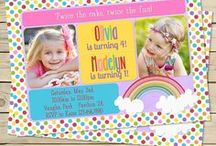 Rainbow Birthday Parties / Rainbow themed birthday party ideas