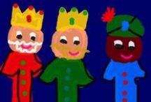 Activitats i Decoració de Nadal a l'Escola / Guarniments, felicitacions, pessebres, PINO's