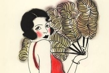 (3 Drawn) Burlesque, Pinup, Cabaret, Showgirls, Femme fatal and Beauty / by Holly M