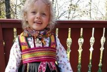 Folk costumes from Europe, mostly Norway