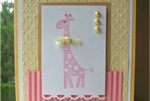 New Baby Card Ideas / Inspiration for making cards to welcome a new baby