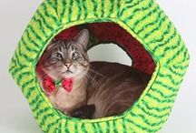 Cat Toys and Cat Beds / We love innovative cat furniture designs, including our original Cat Ball®and Cat Canoe®cat bed designs. Use coupon code PIN10 to save 10% at TheCatBall.com.