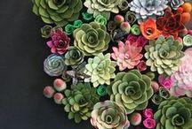 Paint, Fabric, Flowers