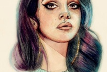 Lana Del Rey / fatal charm.  been trying hard not to get into trouble but i, i've got a war in my mind. / by Carla Del Ray