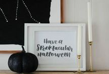 A Black + White Halloween Party / A collaborative board; black and white never goes out of style, especially for Halloween!