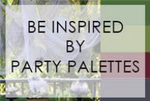 Be Inspired By...Party Palettes / Color palettes to inspire your next celebration! / by Not Just A Mommy