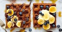 Waffley Good Waffles / Waffles in all there criss-cross glory. The perfect breakfast, brunch or snack. Vegan and Vegetarian recipes for waffles. #waffles #veganwaffles #vegetarianwaffles