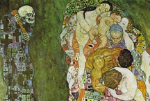 Gustav Klimt / Gustav Klimt (July 14, 1862– February 6, 1918) was an Austrian Symbolist painter and one of the most prominent members of the Vienna Secession movement. His major works include paintings, murals, sketches, and other art objects. / by Florence Gray