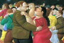 """Fernando Botero / Fernando Botero Angulo (born April 19, 1932) is a Colombian figurative artist. His works feature a figurative style, called by some """"Boterismo"""", which gives them an unmistakable identity. Botero depicts women, men, daily life, historical events and characters, milestones of art, still-life, animals and the natural world in general, with exaggerated and disproportionate volumetry, accompanied by fine details of scathing criticism, irony, humor, and ingenuity. / by Florence Gray"""