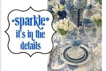 Table settings & flower arrangements