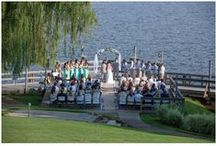 Lake Wedding at Tellico Yacht Club / Photos taken at real weddings at Knoxville wedding venue Tellico Yacht Club with a lake view