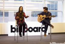 Billboard Office Visits and Performances / Up and coming and well-established artists come by the office on the regular. Check out their performances, podcasts and portraits!