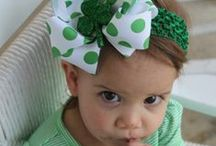 St.Patrick's Day Hair Accessories for Babies and Toddlers / St.Patrick's Day is the perfect opportunity to show off your green accessories! Don't have any? Baby Wisp has you covered! Baby and toddler Headbands and Hair Clips will keep mama and baby on trend and festive for this fun holiday! Green hair bows are difficult to find and maybe you're not into the traditional green?  We have aqua, mint, calcite, apple green and many other shades of green. We've also pinned some other St.Patrick's pins that were cool.