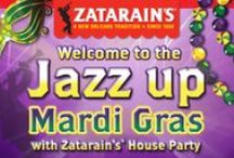 Zatarain's House Party / Let Zatarain's® jazz up your table and enjoy the flavors of Mardi Gras at home with friends and family. At your Jazz up Mardi Gras with Zatarain's® House Party, you'll savor the flavor of New Orleans-Style foods with Zatarain's® authentic recipes and get into the carnival spirit with masks, games, beads and more. Bring on the Zatarain's®, add music and cook up a good time. Laissez les bons temps rouler! / by Zatarain's