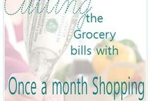 Once a Month Grocery Shopping Tips and Tricks / Once a Month Grocery Shopping Tips and Tricks, plus monthly meal planning lists, once a month grocery shopping lists, plus more! / by Jamerrill Stewart