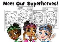 Girl Scout Superheroes! / Makingfriends.com has new Girl Scout Superheroes! These girls each have a superpower, one for each part of the Girl Scout Law. You can even earn badges with our Girl Scout Superhero Printables!  / by MakingFriends.com, Inc.