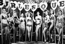"""Burlesque / """"Burlesque is a literary, dramatic or musical work intended to cause laughter by caricaturing the manner or spirit of serious works, or by ludicrous treatment of their subjects.The word derives from the Italian burlesco, which itself derives from the Italian burla – a joke, ridicule or mockery."""" / by Lipsi Cosmetics"""