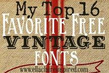 """FREE Fonts / """"Oh how I want to be free, Baby. Oh how I want to be FREE."""" QUEEN, I Want to Break Free"""