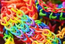 """Rainbow Loom / """"Somewhere over the RAINBOW, skies are blue. And the dreams that you dare to dream really do come true."""" JUDY GARLAND, Somewhere Over the Rainbow"""