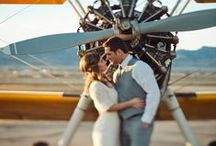 * AVIATION ENGAGEMENT * / I've always wanted to do an aviation engagement shoot! The planes seem perfect for a nostalgic and very romantic couple shoot. Here is a few inspirations I gathered before my aviation engagement session.
