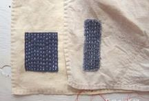 mending stitches / cloths and fabrics ♣  darn / patch / repair / heal