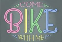 """L♥v 2 Ride. / """"I just like the way the world looks from a bicycle."""" -- Jamie, from the movie Singles. / by Leslie Kane"""