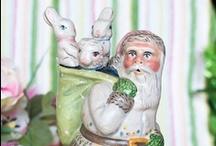 Vaillancourt Chalkware Santas