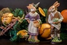 Vaillancourt Chalkware Rabbits
