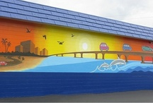 The Clearwater Mural by Fine Artist, Ana Livingston of Tampa Bay / Over the course of 45 days, I began and completed the 55' exterior mural located on the west-facing wall of Honka Automotive (1266 Court Street), here in Clearwater, FL.  For more information: www.clearwatermural.com www.ana-livingston.com www.themakingofamural.com www.analivingston.wordpress.com