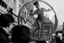 "Melvin Sokolsky / Melvin Sokolsky's ""Bubble"" fashion photo series published in Harper's in 1963"