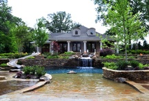 Ultimate Home Resort / An extensive backyard retreat designed and built by J. Brownlee Pool & Landscape in Memphis, Tenn. http://www.poolspaoutdoor.com/pools/inground-pools/articles/ultimate-home-resort.aspx / by PoolSpaOutdoor.com