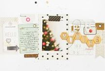 December Daily / Holiday layout and album ideas.