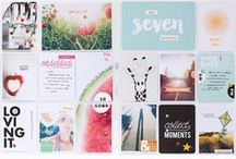Project Life / Ideas for pocket-page scrapbooking.