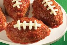 Football Recipes / Easy and fun recipe ideas to serve your family during football season. Chili recipes, wings, appetizers, and queso should all make an appearance at your home tailgating party! / by ReadySetEat