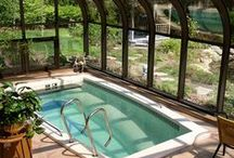 """Swim Spas / Swim spas (also known as """"swim-in-place pools"""") offer the best of hot tubs and swimming pools in one convenient package. Find more information and buying tips here: http://www.poolspaoutdoor.com/hot-tubs-swim-spas/swim-spas.aspx / by PoolSpaOutdoor.com"""