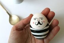 EASTER - inspiration & decoration / To paint egg is fun!