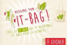"""Dessine ton it-bag ! / #Ecogeste : Agis pour ta planète et participe au concours """"Dessine ton it-bag"""" sur notre page Facebook """"Agir dans le bon sens"""" ! Crée ton propre it-bag et gagne 10 exemplaires de ton sac & 2 week-ends en écolodge dans les Vosges. #jeuconcours http://on.fb.me/1dq6m5J"""