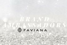 Brand Ambassadors of Faviana / The it-girls of Faviana! A Brand Ambassador is a standout leader in her community, is excited about fashion, and is someone who wants to become a part of the Faviana family. They embody all of our core values including bringing out the best, show genuine concern, eliminating drama, embracing evolution, and inspiring elegance! Want to become a Faviana Brand Ambassador? Apply Now! http://www.faviana.com/ambassador