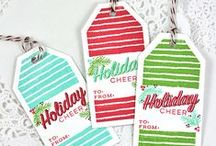 Holiday Tags / Handmade holiday tags for gifts and other projects.