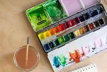 Watercolor / Watercolors, watercolor pencils, gelatos, watercolor ink techniques, watercolor inspiration, etc.