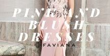 Pink and Blush Dresses / Pink is playful, feminine and eye-catching. Show off your fun and unique style and rock a striking pink dress from Faviana. Whether you're looking for a long, short, two-piece, mermaid or formal pink dress, Faviana has the perfect option to make you look fresh and fabulous. Be bold in a hot pink two-piece dress with a full-sequined top, or exude elegance in a dark pink strapless satin dress. Turn heads in a pale pink short dress with a beaded halter top, or in a pastel pink gown with chiffon.