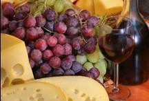 Glass of Wine & Cheese / Tantalize your palate with a glass of wine and cheese! / by Deb Martin-Webster
