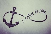 Anchored and Refusing to Sink / Nautical love, Anchored to Infinity and Tattoo Dreaming  / by Saira Ramessar