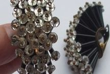 Fabulous clip on earrings and screw back earrings to enjoy / Fabulous clip on earrings and screw back earrings from the 1920s right up to today. Large and small, dropper and stud, crystal and plastic - something for all