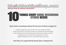 Recording Studio Designs / Diagrams of various home recording studio  setups and applications