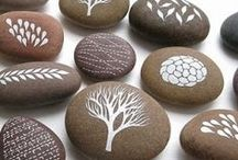Stones / Painted stones, craft, ideas for decorating stones / by Sandy Elliot Newby