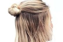 HAIRSTYLE : HALF UP KNOT